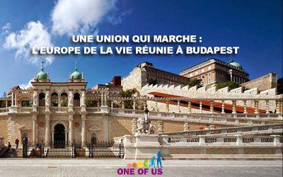 Une union qui marche : l'Europe de la vie réunie à Budapest