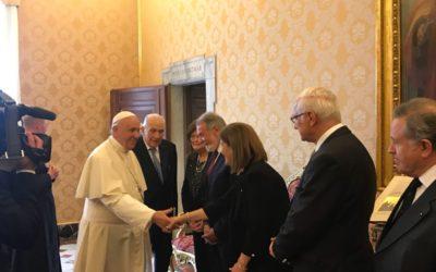 Le pape François a reçu la Fédération européenne One Of Us !